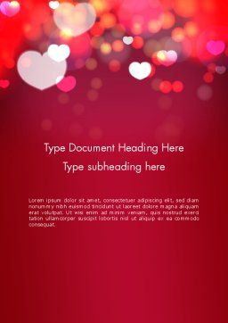 Love Pink Word Template, Cover Page, 13989, Holiday/Special Occasion — PoweredTemplate.com