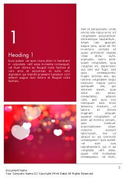 Love Pink Word Template, First Inner Page, 13989, Holiday/Special Occasion — PoweredTemplate.com