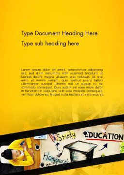 Studying Homework Word Template Cover Page