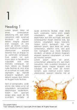 Splash Cocktail Word Template, First Inner Page, 14002, Food & Beverage — PoweredTemplate.com