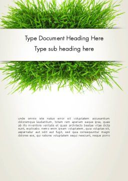 Grass Patch Word Template, Cover Page, 14006, Nature & Environment — PoweredTemplate.com