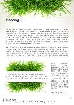 Grass Patch Word Template, First Inner Page, 14006, Nature & Environment — PoweredTemplate.com