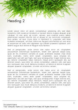 Grass Patch Word Template Second Inner Page