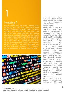 Programming Code Word Template, First Inner Page, 14009, Technology, Science & Computers — PoweredTemplate.com