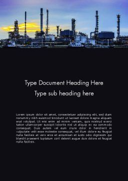 Industry Landscape Word Template, Cover Page, 14014, Utilities/Industrial — PoweredTemplate.com