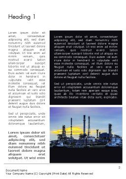Industry Landscape Word Template, First Inner Page, 14014, Utilities/Industrial — PoweredTemplate.com