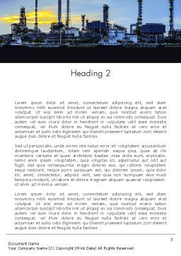 Industry Landscape Word Template, Second Inner Page, 14014, Utilities/Industrial — PoweredTemplate.com