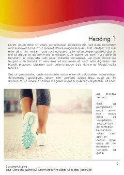 Legs Of Jogging Woman Word Template, First Inner Page, 14015, Sports — PoweredTemplate.com