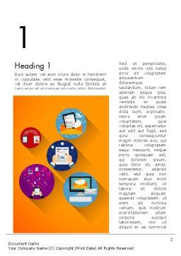 New Technologies Flat Designed Word Template, First Inner Page, 14018, Technology, Science & Computers — PoweredTemplate.com