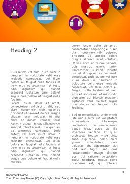 New Technologies Flat Designed Word Template, Second Inner Page, 14018, Technology, Science & Computers — PoweredTemplate.com