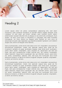 Corporate Analysis Word Template, Second Inner Page, 14020, Business — PoweredTemplate.com