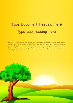 Landscape Summer Word Template Cover Page