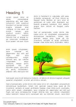Landscape Summer Word Template First Inner Page