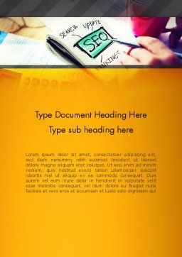 SEO Agency Word Template, Cover Page, 14026, Consulting — PoweredTemplate.com