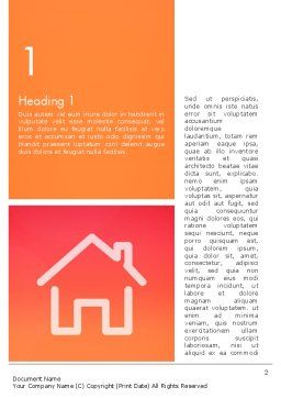 House Icon Word Template, First Inner Page, 14028, General — PoweredTemplate.com