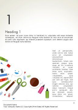 Primary School Supplies Word Template, First Inner Page, 14032, Education & Training — PoweredTemplate.com