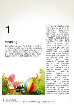 Happy Summer Holiday Word Template First Inner Page