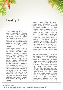 Happy Summer Holiday Word Template Second Inner Page