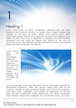 Blue Heart Background Word Template, First Inner Page, 14037, Holiday/Special Occasion — PoweredTemplate.com