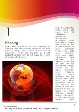 Red Globe Theme Word Template, First Inner Page, 14042, Global — PoweredTemplate.com