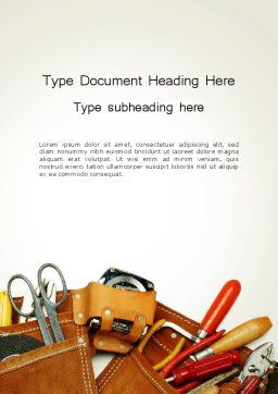 Home Maintenance Word Template, Cover Page, 14045, Utilities/Industrial — PoweredTemplate.com