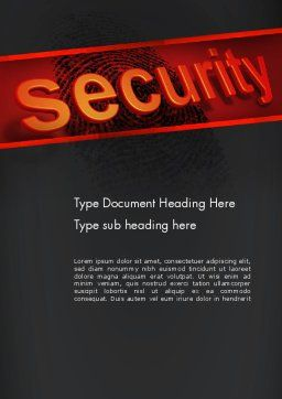 Biometrics Security System Word Template, Cover Page, 14046, Technology, Science & Computers — PoweredTemplate.com