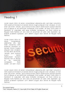Biometrics Security System Word Template, First Inner Page, 14046, Technology, Science & Computers — PoweredTemplate.com