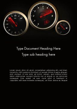 Car Dashboard Design Word Template, Cover Page, 14048, Cars/Transportation — PoweredTemplate.com