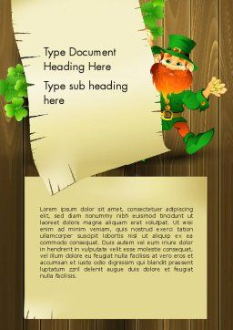 Saint Patrick's Day Word Template, Cover Page, 14052, Holiday/Special Occasion — PoweredTemplate.com