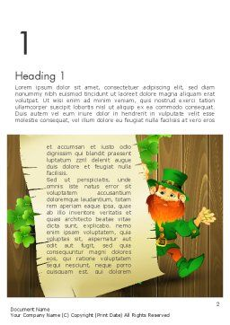 Saint Patrick's Day Word Template, First Inner Page, 14052, Holiday/Special Occasion — PoweredTemplate.com