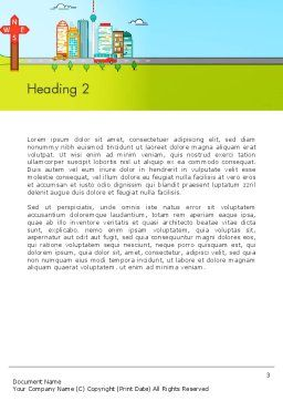 Traveling the Countryside Word Template Second Inner Page