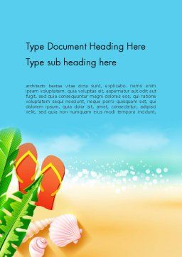 Sunny Beach Word Template, Cover Page, 14059, Holiday/Special Occasion — PoweredTemplate.com
