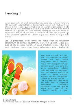 Sunny Beach Word Template, First Inner Page, 14059, Holiday/Special Occasion — PoweredTemplate.com
