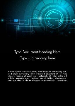 Futuristic Flowchart Abstract Word Template, Cover Page, 14066, Technology, Science & Computers — PoweredTemplate.com