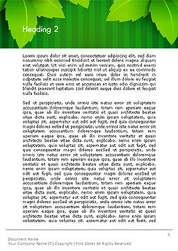 Green Leaf Theme Word Template, Second Inner Page, 14069, Nature & Environment — PoweredTemplate.com