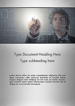 Limited Access Word Template, Cover Page, 14071, Technology, Science & Computers — PoweredTemplate.com