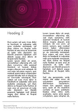 Future Technology Abstract Word Template, Second Inner Page, 14074, Technology, Science & Computers — PoweredTemplate.com