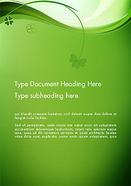 Quatrefoil Word Template, Cover Page, 14079, Holiday/Special Occasion — PoweredTemplate.com