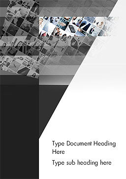 Tilted Photo Collage Word Template, Cover Page, 14080, Careers/Industry — PoweredTemplate.com