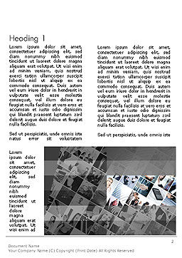 Tilted Photo Collage Word Template, First Inner Page, 14080, Careers/Industry — PoweredTemplate.com