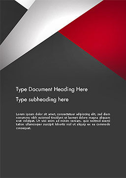 Abstract Cut Out Word Template, Cover Page, 14081, Business — PoweredTemplate.com
