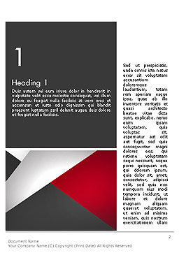 Abstract Cut Out Word Template, First Inner Page, 14081, Business — PoweredTemplate.com