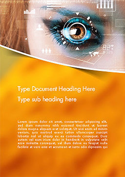 Eye Tracking Word Template, Cover Page, 14085, Technology, Science & Computers — PoweredTemplate.com