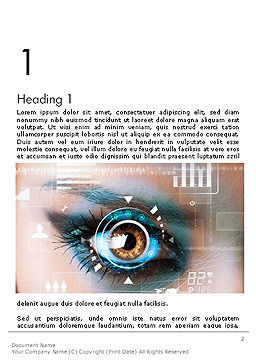 Eye Tracking Word Template, First Inner Page, 14085, Technology, Science & Computers — PoweredTemplate.com
