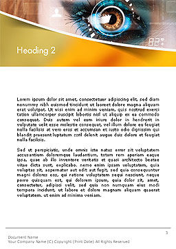 Eye Tracking Word Template, Second Inner Page, 14085, Technology, Science & Computers — PoweredTemplate.com