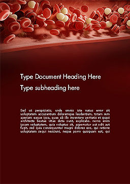 Cord Blood Word Template, Cover Page, 14087, Medical — PoweredTemplate.com