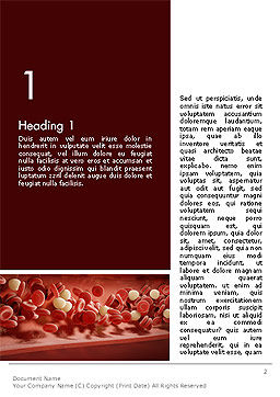 Cord Blood Word Template, First Inner Page, 14087, Medical — PoweredTemplate.com