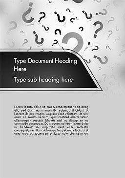 Million Questions Word Template, Cover Page, 14089, Education & Training — PoweredTemplate.com