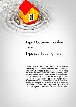 House in the Labyrinth Center Word Template Cover Page