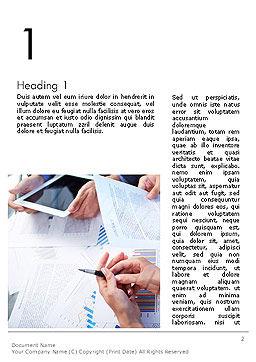 Team Solution Success Word Template, First Inner Page, 14092, Business — PoweredTemplate.com